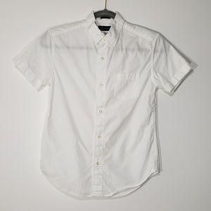 J. Crew Crewcuts White Short Sleeve Thompson Shirt